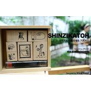 Shinzi Katoh Stamp Set TODAY