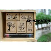 Shinzi Katoh Stamp Set BIRDS