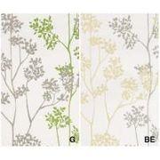 DE1112 川島織物セルコン 窓からECO。 葉 1.5倍ヒダドレープ 100×178 グリーン