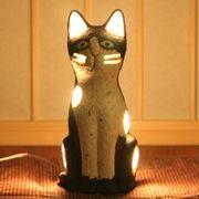 手漉き和紙 ハンドメイド ペーパーキャットランプ 猫のランプ