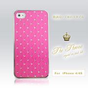 ☆100円!☆iphone4、4S対応カバー クリスタル ピンク