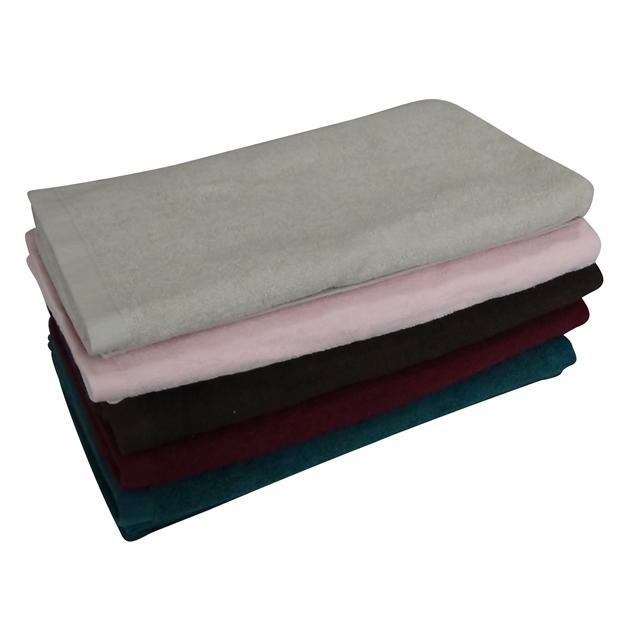 1300匁バスタオル:ピンク(全8色)【90x150cm】【無地】【業務用タオル】