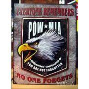 アメリカンブリキ看板 POW/MIA 犠牲者を忘れるな