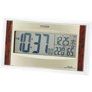 【代引不可】 シチズン ソーラー電源電波置時計 目覚まし時計
