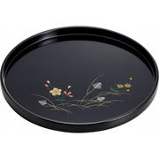 【代引不可】 紀州塗 あきしの 丸盆 キッチン用品・食器・調理器具 その他