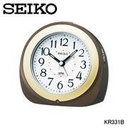 セイコー 置時計 「夜でも見える」自動点灯目ざまし時計 KR331B