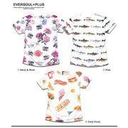 ★ダンスやバンド衣装にオススメ!★総柄の大胆なフルカラープリントがインパクト大のフォトTシャツ!★