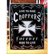 アメリカンブリキ看板 Choppers forever