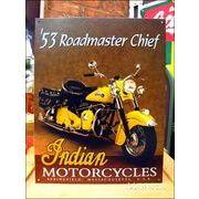 アメリカンブリキ看板 インディアン -1953 Roadmaster Chief-