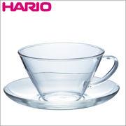 HARIO(ハリオ)耐熱カップ&ソーサー・ワイド CSW-1T