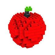 格安☆子供も大人もハマるブロック◆ホビー・ゲーム◆ブロックおもちゃ◆小さい◆積み木◆知育玩具◆リンゴ