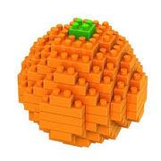 格安☆子供も大人もハマるブロック◆ホビー・ゲーム◆ブロックおもちゃ◆積み木◆知育玩具◆オレンジ