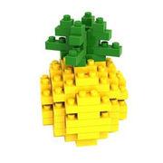 格安☆子供も大人もハマるブロック◆ホビー・ゲーム◆ブロックおもちゃ◆積み木◆知育玩具◆パイナップル