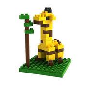 格安☆子供も大人もハマるブロック◆ホビー・ゲーム◆ブロックおもちゃ◆小さい◆積み木◆知育玩具◆ジラフ