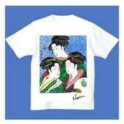 FJK 日本 お土産 Tシャツ 浮世絵 Sサイズ (ホワイト)No.19-S