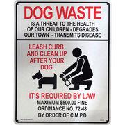 看板/プラスチックサインボード(Lサイズ) 犬の後始末を Dog Waste CA-L02