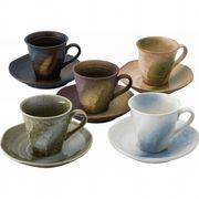 【代引不可】 彩遊器 コーヒー碗皿5客揃 マグ(ビーカー)
