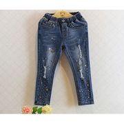 ★人気商品★キッズファッション★女の子デニムズボン★ジーンズ