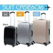 スーツケース 6016 【S+M+Lサイズ各1個 同色3サイズセット】 金 TR-6016-3SET-GO
