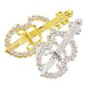 【特価】【数量限定】バイオリンピン 福袋 音楽 楽器 ゴールド シルバー ブローチ
