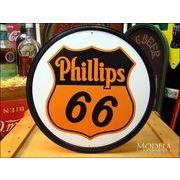 アメリカンブリキ看板 フィリップス66・ラウンド