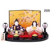 ★ひな祭りを飾る★ 陶製の雛人形 【錦彩 風雅桜親王雛】