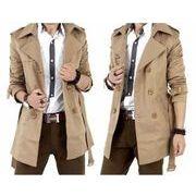 メンズ ジャケットトレンチコートビジネスコート 紳士服 トレンチコートロング アウターコート 2色