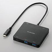 �G���R�� USB Type-C���ڃh�b�L���O�X�e�[�V����(PD�Ή�) U3HC-DC03BBK