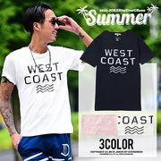 夏の定番アイテム★カリフォルニアコットンプリント半袖Tシャツ/メンズ カットソー インナー ロゴ