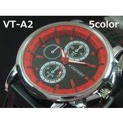 VITAROSOメンズ腕時計 ラバーウォッチ 日本製ムーブメント クロノデザイン