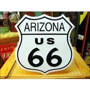 アメリカンブリキ看板 U.S. ROUTE66 -アリゾナ-