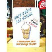 アメリカンブリキ看板 アイスクリーム 爽快な味
