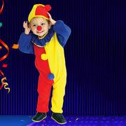 激安☆子供★コスチューム★cosplay★ハロウィン★ステージ★扮装★ピエロ★帽子+ ロンパース