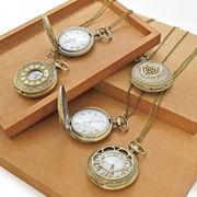 【アンティーク 時計】懐中時計ネックレスアソート6種 レトロ ヴィンテージ フラワー アクセサリー