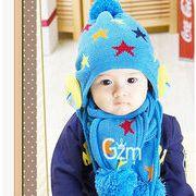 ★同梱でお買得★新作★秋冬★ニット帽子とマフラー2点セット★子供用帽子