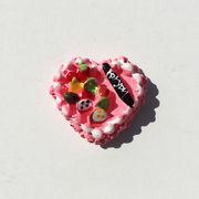 【デコパーツ】ハート型ケーキパーツ(約2.5cm)