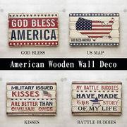 ★【American Wooden Deco】レトロ調★アメリカンウッデンウォールデコ★