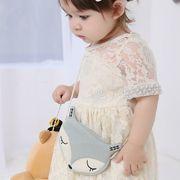 キツネの赤ちゃんレジャーメッセンジャー ショルダーバッグ キッズコイン財布 女の子 カジュアル 鞄