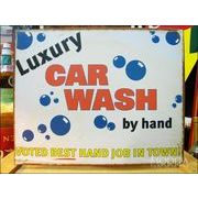 アメリカンブリキ看板 贅沢な車洗い