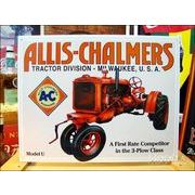 アメリカンブリキ看板 ALLIS-CHALMERS -Model U-
