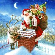 Daisy  ペーパーナプキン クリスマス サンタ・煙突