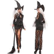 【即日出荷】黒  魔女 コスチューム コスプレ衣装 ハロウィン 服【4727/3】
