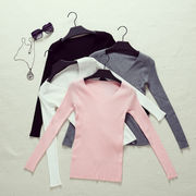 秋と冬★新しいデザイン★セーターの女性★ヘッジ★Tシャツ★スモールシャツ★着やせ★着やせ