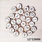 手芸DIY  iPhoneケース用アクセサリスーツ  両面 字母 立体 ペンダント 髪のアクセサリー