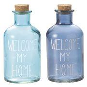 MNK:カラーガラスロゴボトル【HOME】
