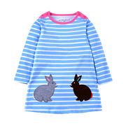キッズトップス 綿100% 韓国子供服 かわいい おしゃれ 長袖 うさぎ  80cm~130cm5点