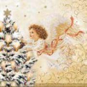 Maki  ペーパーナプキン クリスマス 天使・ツリー