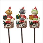 クリスマス ノエルピック サンタアニマル(3種類)×各4本 CM558