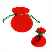 限定クリスマス【激安】SS小さいサイズ☆人気フリル型レッドベロア巾着袋