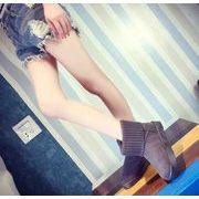 ブーツ★シューズ★単靴★綿靴★ぺたんこ靴ショート ブーツ 全4色 shoes-ls-45